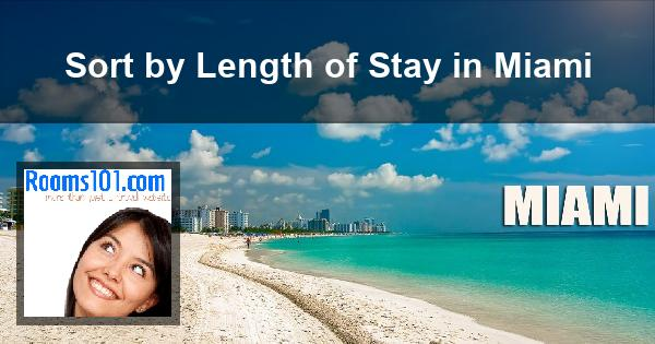 Sort by Length of Stay in Miami