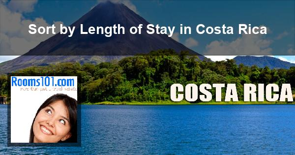 Sort by Length of Stay in Costa Rica