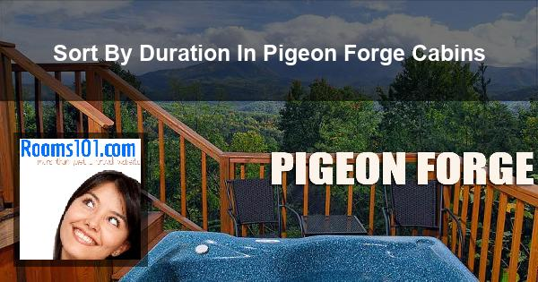 Sort By Duration In Pigeon Forge Cabins