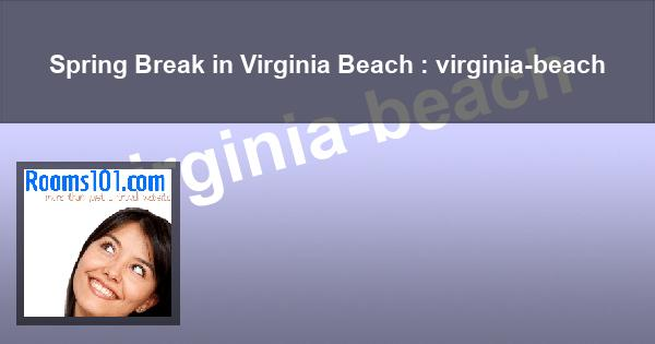 Spring Break in Virginia Beach