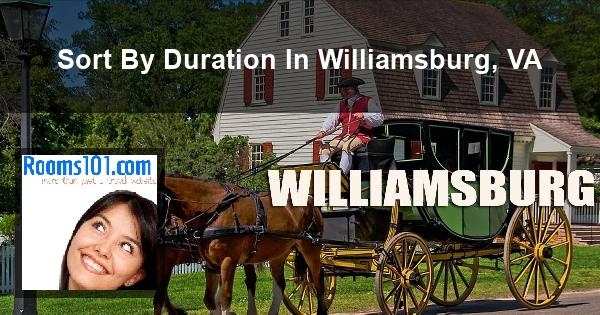Sort By Duration In Williamsburg, VA