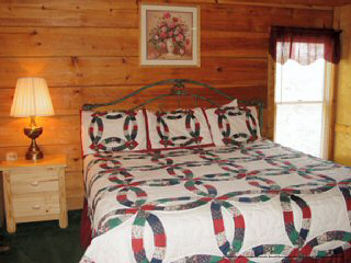 country bedroom in cabin 14 the view in pigeon forge tennessee