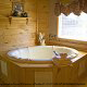 Private jacuzzi tub in cabin 241 (Eagle Crest Lodge) at Eagles Ridge Resort at Pigeon Forge, Tennessee.