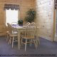 Country dining room in cabin 298 (Renewed Spirit) at Eagles Ridge Resort at Pigeon Forge, Tennessee.