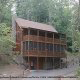 Outside front view of cabin 298 (Renewed Spirit) at Eagles Ridge Resort at Pigeon Forge, Tennessee.