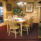 Country dining room in cabin 304 (Southern Hospitality) at Eagles Ridge Resort at Pigeon Forge, Tennessee.