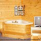 Private jacuzzi in cabin 305 (Bear Right In) at Eagles Ridge Resort at Pigeon Forge, Tennessee.