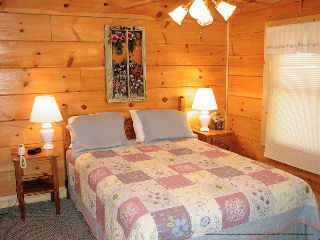 bedroom in cabin 309 georges at eagles ridge resort at pigeon forge