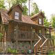 Front exterior view of cabin 41 (Tennessee Mountain Memories) , in Pigeon Forge, Tennessee.
