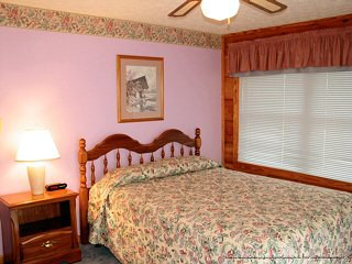 size bedroom in cabin 46 cherith brook in pigeon forge tennessee