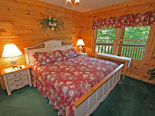 country view in cabin 80 heavenly haven in pigeon forge tennessee
