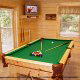 Game room with pool table in cabin 815 (As Good As it Gets) at Eagles Ridge Resort at Pigeon Forge, Tennessee.