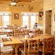 Country dining room in cabin 854 (The Wagon Wheel Lodge) at Eagles Ridge Resort at Pigeon Forge, Tennessee.