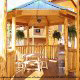 Beautiful gazebo in cabin 854 (The Wagon Wheel Lodge) at Eagles Ridge Resort at Pigeon Forge, Tennessee.