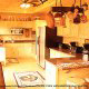 Fully furnished kitchen in cabin 854 (The Wagon Wheel Lodge) at Eagles Ridge Resort at Pigeon Forge, Tennessee.