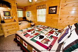 bedrooms in cabin 88 mountain magic in pigeon forge tennessee