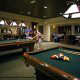Game Room View with Billiard Tables at Cancun Resort in Las Vegas, Nevada.