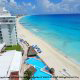 Panoramic View At BelleVue Beach Paradise Hotel In Cancun, Mexico.