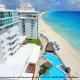 Bird Eye View At BelleVue Beach Paradise Hotel In Cancun, Mexico.