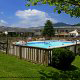 Outdoor Pool View At Best Western Mountain Lodge In Banner Elk, North Carolina.