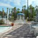 Outdoor Pool Deck View At Celebration World Resort in Orlando/Kissimmee, Florida.
