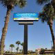 Front sign for The Champions World Resort in Orlando, Florida.