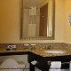Luxury hotel bathroom at (Charleston Best Western) Charleston, South Carolina.