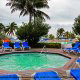 Outdoor Jacuzzi View At Viva Wyndham Fortuna Beach in the Bahamas.
