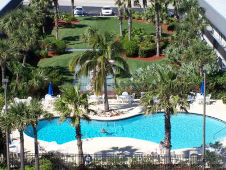 Outdoor Pool View At The Best Western Ocean Beach Hotel Suites In Cocoa