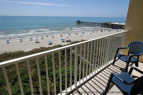 Ocean View From Your Balcony At Best Western Beach Hotel Suites In Cocoa