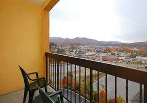 Mountain View From Balcony At Comfort Suites Hotel In Pigeon Forge Tennessee