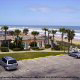 Hotel Parking Lot View at Coral Sands Inn In Daytona Beach / Ormond Beach, Florida.