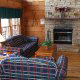 Living Room at the Country Pines Log Home Resort in Pigeon Forge Tennessee
