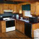 A typical kitchen at the Country Pines Log Home Resort in Pigeon Forge Tennessee