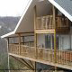 Outside view of a rental cabin at Eagles View Resort in Tennessee