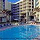 Outdoor Pool View at El Caribe Resort in Daytona Beach, Florida. 