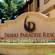Desert Paradise Resort sign