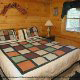 Country decor in one of the bedrooms at the Eagles Ridge in Pigeon Forge Tennessee.