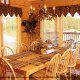 Dining room from one of the cabins at the Eagles Ridge in Pigeon Forge Tennessee.