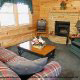 Nestle into the cozy living rooms for some Family relaxation in your private cabin at Eagles Ridge in Pigeon Forge Tennessee.