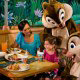 Dining is fun for the whole family with Disney characters at Walt Disney's Epcot in Orlando Florida.
