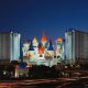 Night Panoramic View of Excalibur Hotel and Casino in Las Vegas, Nevada. Affordable Vegas vacation packages now available at Rooms101.com. 