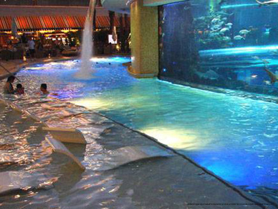 Indoor Pool View At Golden Nugget Hotel And In Las Vegas Nv Spend