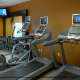 Fitness Center View At Hampton Inn & Suites In Orlando / Kissimmee, Florida.