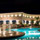 Night Pool View at the Harrah's Grand Casino Hotel in Biloxi, Mississippi. Feel the feeling of the 1001 nights during your majestic New Years getaway.