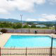 The Hotel Pigeon Forge view of the pool overlooking the mountains.