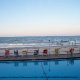Ocean View from Inn On The Beach in Daytona Beach, Florida.