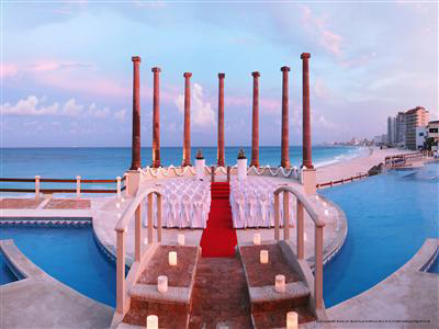Wedding Arrangement View At Krystal Cancun Resort In Mexico