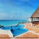 Hot Tub Merges Ocean Illusion at Krystal Cancun Resort in Cancun, Mexico.