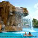 Waterfall at the Pool at the Mystic Dunes Resort in Orlando, Florida.